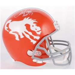 "Terrell Davis Signed Broncos Full-Size Helmet Inscribed ""HOF 17"" (Radtke COA)"