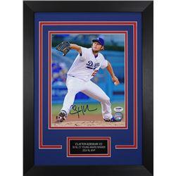 Clayton Kershaw Signed Dodgers 14x18.5 Custom Framed Photo Display (PSA COA)