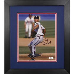 Greg Maddux Signed Braves 13.75x15.5 Custom Framed Photo Display (JSA COA)