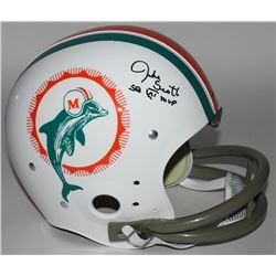 "Jake Scott Signed Dolphins Throwback TK Full-Size Suspension Helmet Inscribed ""SB VII MVP"" (JSA COA)"