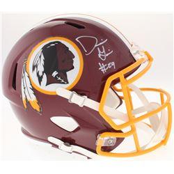Derrius Guice Signed Redskins Full-Size Speed Helmet (Radtke COA)