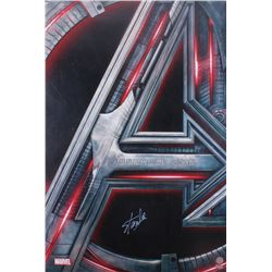 "Stan Lee Signed ""Avengers: Age of Ultron"" 27x40 Movie Poster (Radtke COA  Lee Hologram)"