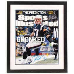 Rob Gronkowski Signed LE Patriots 22x26 Custom Framed Photo Display (Steiner COA)