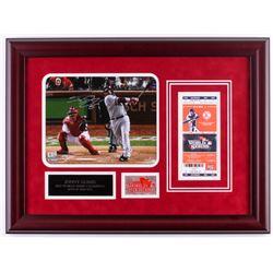 Jonny Gomes Signed Red Sox 17x23 Custom Framed Photo Display (MLB Hologram)