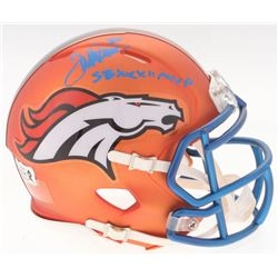 Terrell Davis Signed Broncos Blaze Speed Mini-Helmet Inscribed  SBXXXII MVP  (Radtke COA)