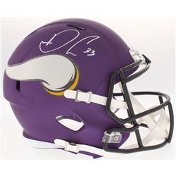 Dalvin Cook Signed Vikings Full-Size Custom Matte Purple Speed Helmet (JSA COA)