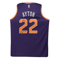 "Deandre Ayton Signed LE Suns Nike Jersey Inscribed ""Time To Rise"" (Game Day Legends COA  Steiner COA"