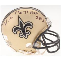 "Willie Roaf Signed Saints Mini Helmet Inscribed ""HOF 2012"" (Radtke COA)"