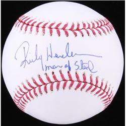 "Rickey Henderson Signed OML Baseball Inscribed ""Man of Steel"" (JSA COA)"