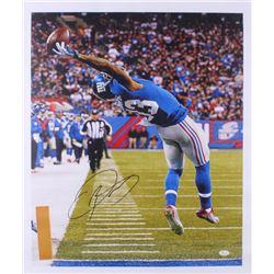 "Odell Beckham Jr. Signed Giants ""The Catch""  21x25 Photo On Canvas (JSA COA)"
