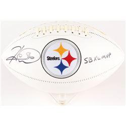 "Hines Ward Signed Steelers Logo Football Inscribed ""SB XL MVP"" (JSA COA)"