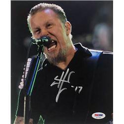 """James Hetfield Signed 8x10 Photo Inscribed """"17"""" (PSA COA)"""