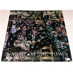 Rod Stewart Signed  A Night on the Town  Vinyl Record Album (PSA COA)