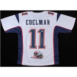 Julian Edelman Signed New England Patriots Jersey with Custom Stiched Photo (JSA COA)