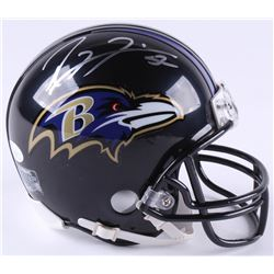 Ray Lewis Signed Ravens Mini-Helmet (JSA COA)