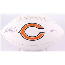 "Mike Singletary Signed Bears Logo Football Inscribed ""HOF 98"" (JSA COA)"