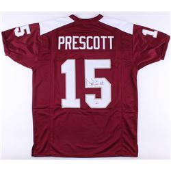 Dak Prescott Signed Mississippi State Bulldogs Jersey (Beckett COA)