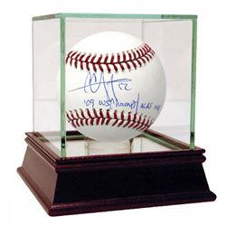 CC Sabathia Signed OML Baseball with Multiple Inscriptions  High Quality Display Case (Steiner COA)