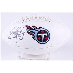 Eddie George Signed Titans Logo Football (Radtke Hologram)