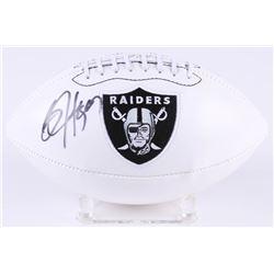 Bo Jackson Signed Raiders Logo Football (Radtke COA  Jackson Hologram)