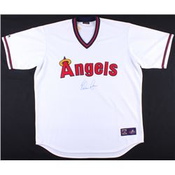 Nolan Ryan Signed Angels Throwback Jersey (JSA COA  Ryan Hologram)