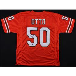 "Jim Otto Signed Miami Hurricanes Jersey Inscribed ""H.O.F. 1980"" (Radtke COA)"