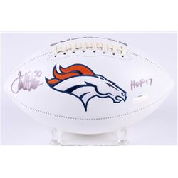 "Terrell Davis Signed Broncos Logo Football Inscribed ""HOF 17"" (Radtke COA)"