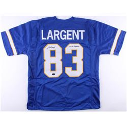 Steve Largent Signed Tulsa Golden Hurricanes Jersey Inscribed  '75 All-American  (Radtke COA)