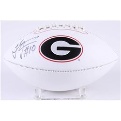 Thomas Davis Signed Georgia Bulldogs Logo Football (Radtke COA)
