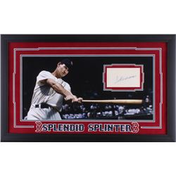 Ted Williams Signed Red Sox 16.5x26.5 Custom Framed Index Card Display (JSA LOA)