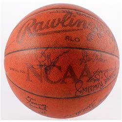 NCAA Basketball Signed by (24) with Dick Vitale, Mike Krzyzewski, Loute Olson,  Jim Harrick (JSA LOA