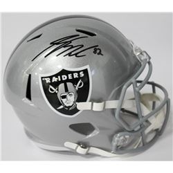 Jordy Nelson Signed Raiders Full-Size Speed Helmet (JSA COA)