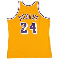 Kobe Bryant Signed 2008 Throwback Lakers Jersey (Panini COA)