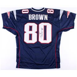 Troy Brown Signed Patriots Jersey (JSA COA)