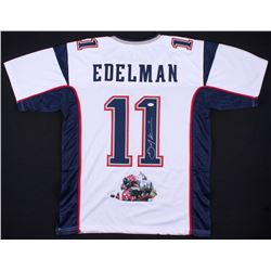 Julian Edelman Signed Patriots Jersey with Custom Stitched  The Catch  Photo (JSA COA)