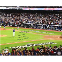 Mike Montgomery Signed Cubs 16x20 Photo with Multiple Inscriptions (Schwartz Sports COA)