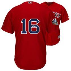 Andrew Benintendi Signed Red Sox World Series 2018 Jersey (Fanatics Hologram  MLB Hologram)