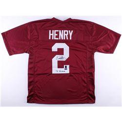 """Derrick Henry Signed Alabama Crimson Tide Jersey Inscribed """"'15 Heisman"""" (Radtke COA  Henry Hologram"""