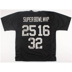"Jim Plunkett, Marcus Allen,  Fred Biletnikoff Signed Raiders ""Super Bowl MVP"" Jersey Inscribed ""SB X"