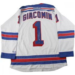 Eddie Giacomin Signed Rangers Jersey (Steiner COA)