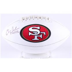 "Chris Doleman Signed 49ers Logo Football Inscribed ""HOF 12"" (Radtke COA)"