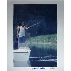 "Hank Aaron Signed ""Fishing"" 16x20 Photo (Steiner COA)"