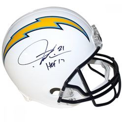 "LaDainian Tomlinson Signed Chargers Full Size Helmet Inscribed ""HOF 17"" (Steiner COA)"