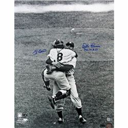 "Yogi Berra  Don Larsen Signed Yankees 16x20 Photo Inscribed ""PG 10.8.56"" (Steiner COA  MLB)"