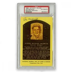 Joe Medwick Signed Gold Hall of Fame Postcard (PSA Encapsulated)