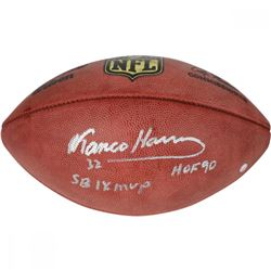 "Franco Harris Signed NFL ""The Duke"" Football Inscribed ""SB IX MVP""  ""HOF 90"" (Steiner COA)"