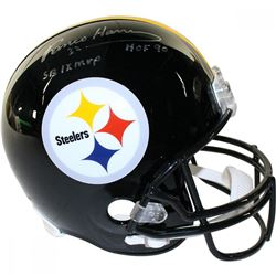 "Franco Harris Signed Steelers Full-Size Helmet Inscribed ""SB IX MVP""  ""HOF 90"" (Steiner COA)"