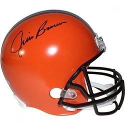 Jim Brown Signed Browns Full-Size Helmet (Steiner COA  Fanatics Hologram)