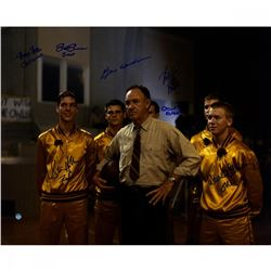 Hoosiers 16x20 Photo Cast-Signed by (8) with Gene Hackman, Brad Boyle, Steve Hollar, Brad Long (Stei