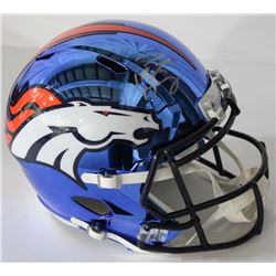 Peyton Manning Signed Broncos Chrome Full-Size Speed Helmet (Fanatics Hologram)